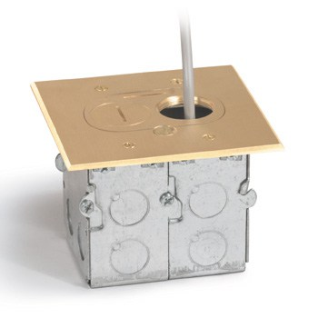 Electrical floor box plug electrical free engine image for Floor electrical outlet