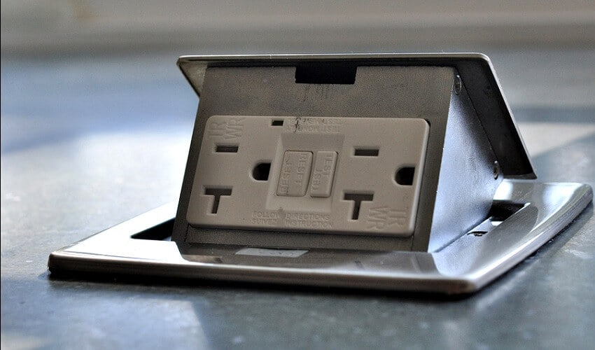kitchen countertop pop-up outlets - lew electric fittings company