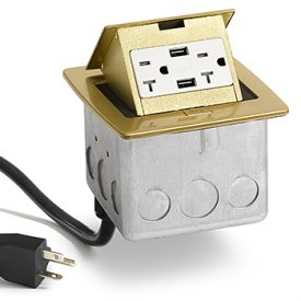 Lew Electric PUFP-CT-B-20A-2USB-WC