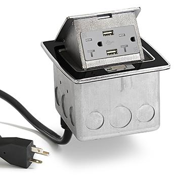 Lew Electric PUFP-CT-BK-20A-2USB-WC