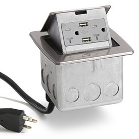 Lew Electric PUFP-CT-SS-20A-2USB-WC