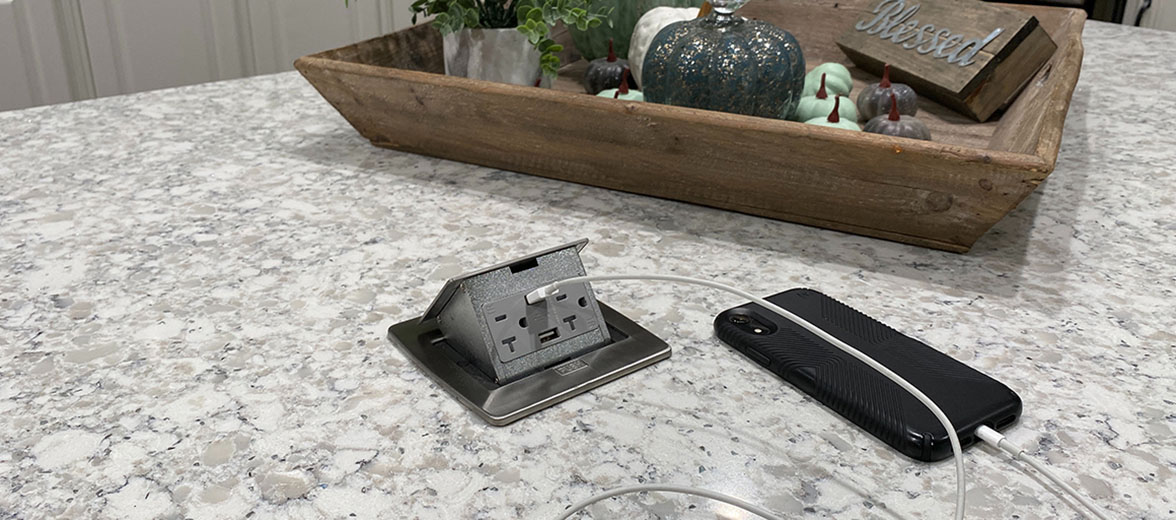 Lew Electric Kitchen Counter Power Pop-Ups